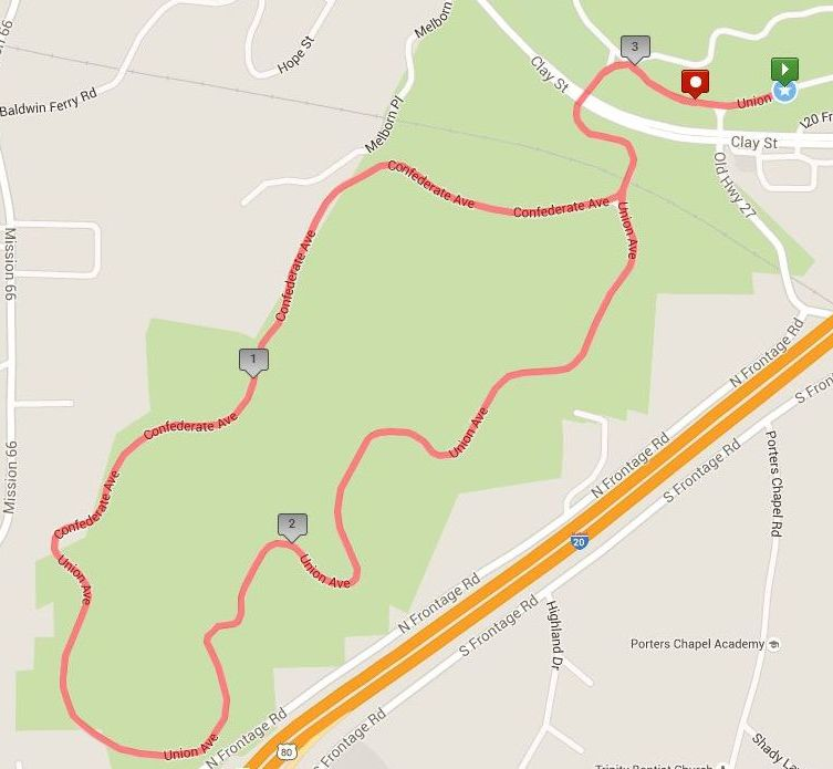 [Image: RTH 5K course map]